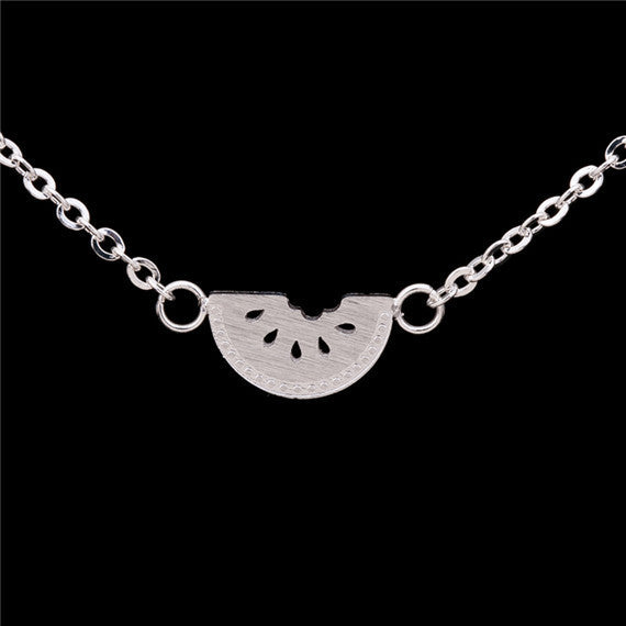 Watermelon Necklace -Stainless Steel - Fierce Finds Mobile Boutique  - 2
