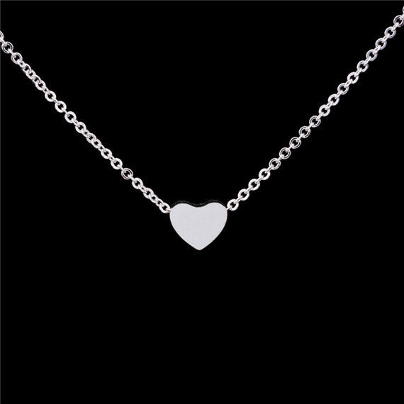 Tiny Heart Necklace  -Stainless Steel - Fierce Finds Mobile Boutique  - 2