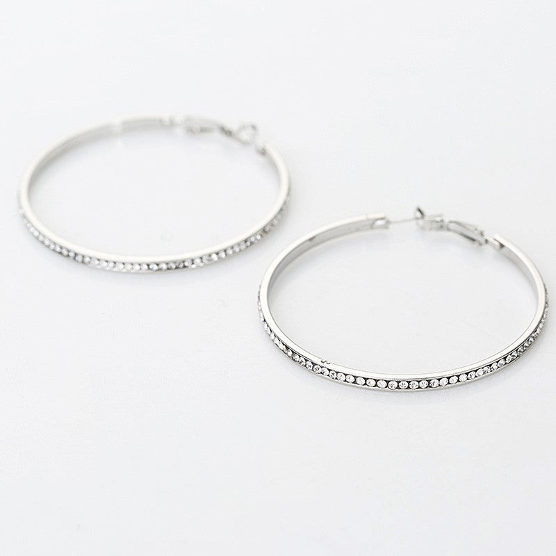 Crystal Hoops-EARRINGS-Fierce Finds Mobile Boutique
