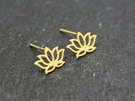 Lotus Flower Earrings-Stainless Steel - Fierce Finds Mobile Boutique  - 5