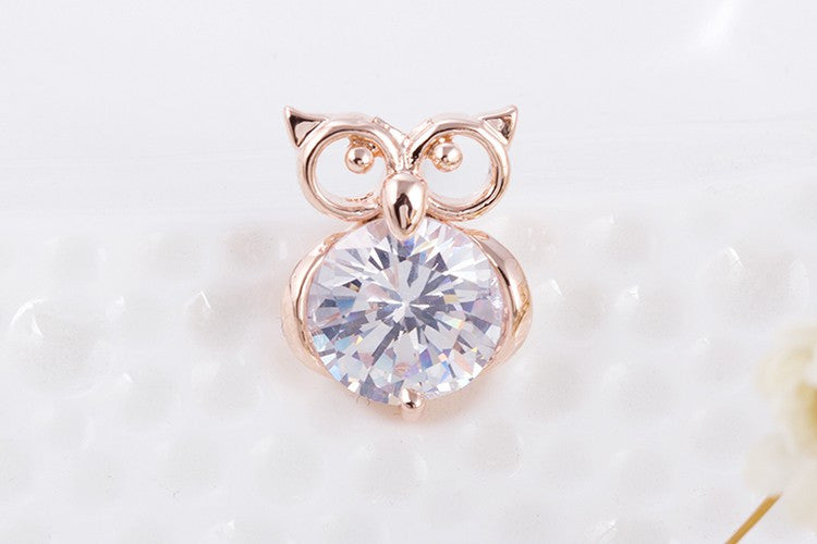 Owl Crystal Studs - Fierce Finds Mobile Boutique  - 2