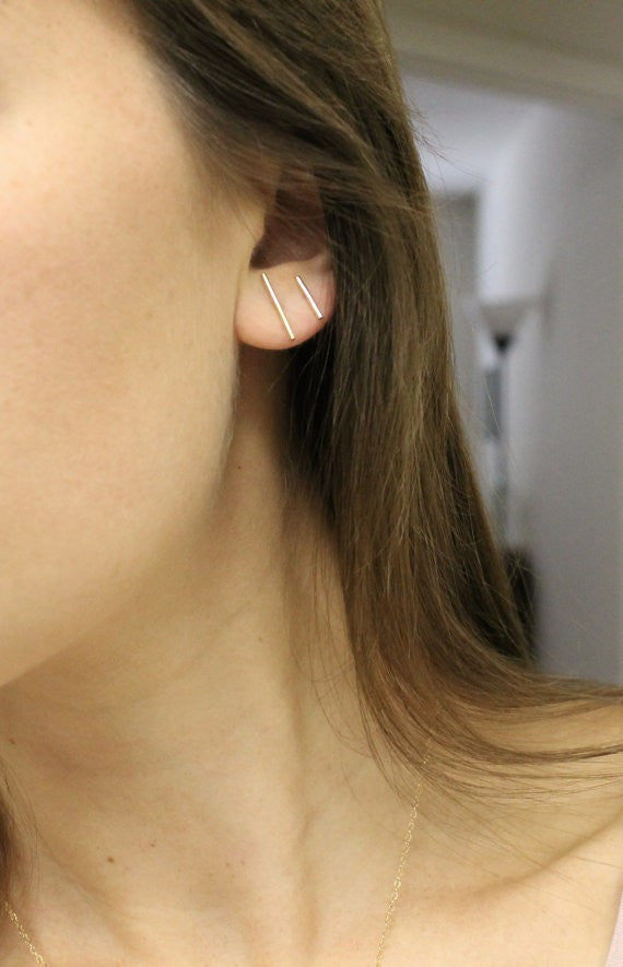 Bar Stud Earrings - Fierce Finds Mobile Boutique  - 5