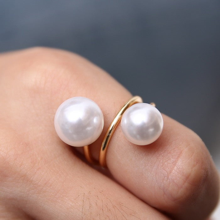 Double Pearl Ring - Fierce Finds Mobile Boutique  - 2