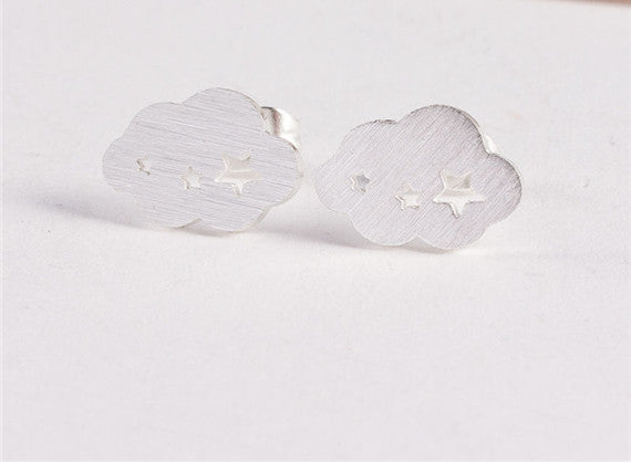 Stainless Steel Silver Clouds & Stars - Fierce Finds Mobile Boutique  - 6