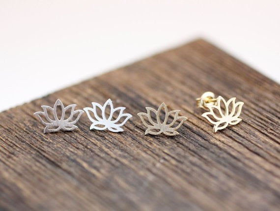 Lotus Flower Earrings-Stainless Steel - Fierce Finds Mobile Boutique  - 4