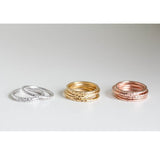 Hammered Gold Stackable Rings - Fierce Finds Mobile Boutique  - 2