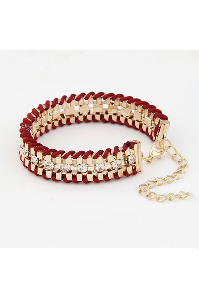 Hand Woven Rope Gold Bracelet - Fierce Finds Mobile Boutique  - 1