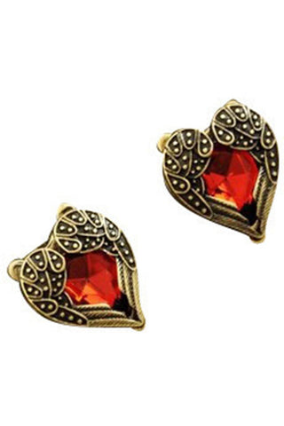 Heart of Gold Studs-EARRINGS-Fierce Finds Mobile Boutique