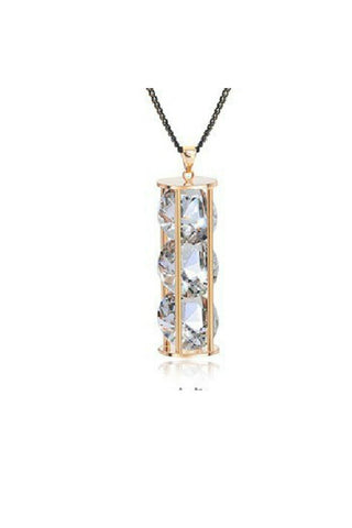 Hourglass of Crystal Necklace-Accessories-Fierce Finds Mobile Boutique