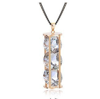 Hourglass of Crystal Necklace - Fierce Finds Mobile Boutique  - 3