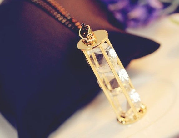 Hourglass of Crystal Necklace - Fierce Finds Mobile Boutique  - 6