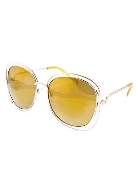 Oversized Square Retro Sunglassess - Fierce Finds Mobile Boutique  - 4