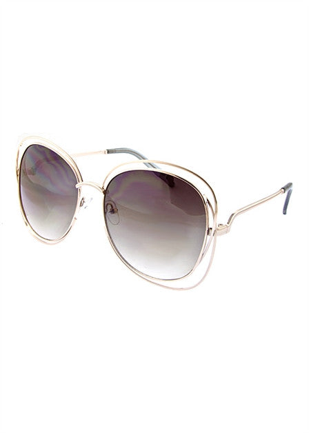 Oversized Square Retro Sunglassess - Fierce Finds Mobile Boutique  - 5