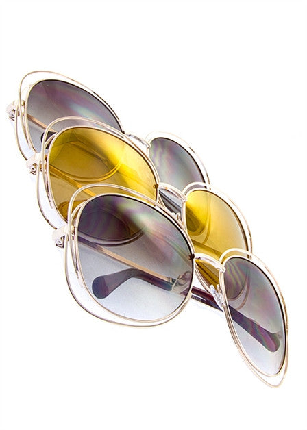 Oversized Square Retro Sunglassess - Fierce Finds Mobile Boutique  - 3