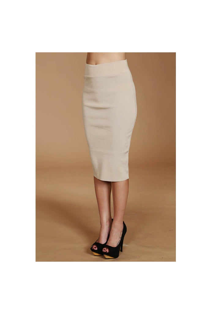 Knit Pencil Skirt-Women - Apparel - Skirts - Pencil-Fierce Finds Mobile Boutique