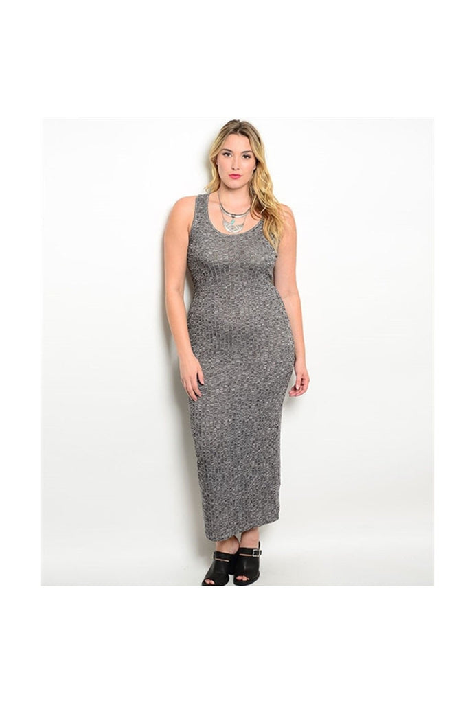 Knit Plus Size Maxi - Fierce Finds Mobile Boutique  - 1