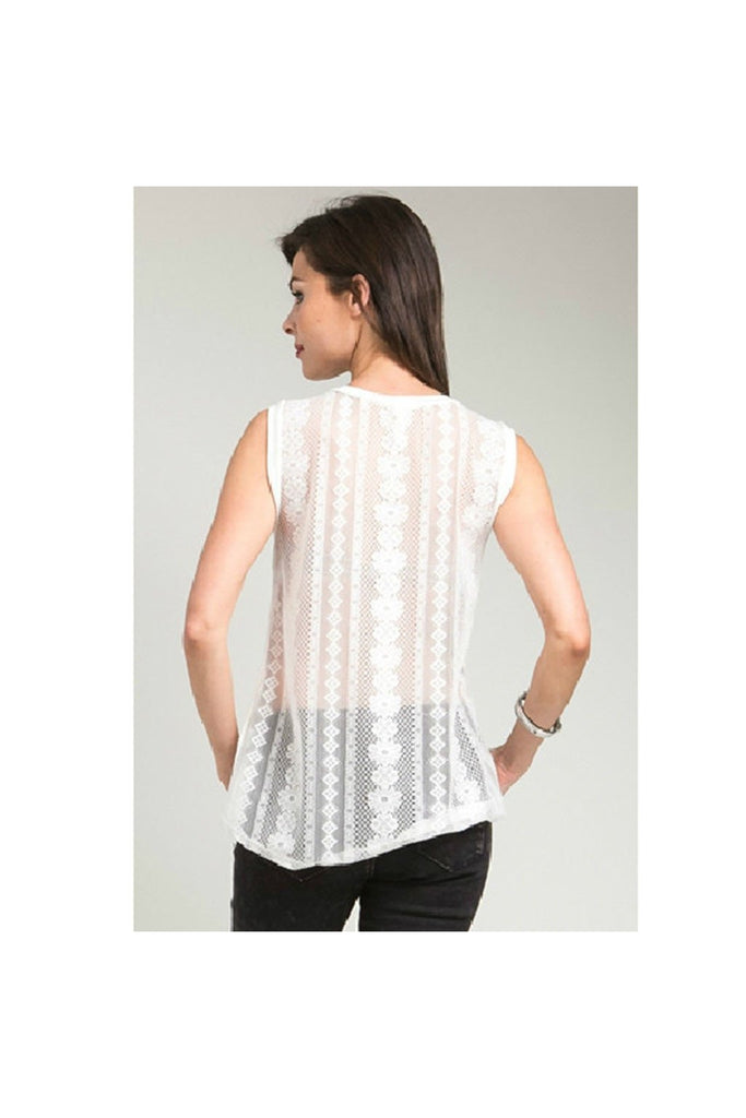 Lace Back Tank - Fierce Finds Mobile Boutique  - 1