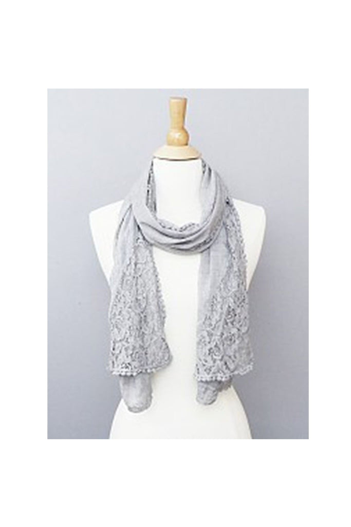 Lace Grey Scarves - Fierce Finds Mobile Boutique  - 1