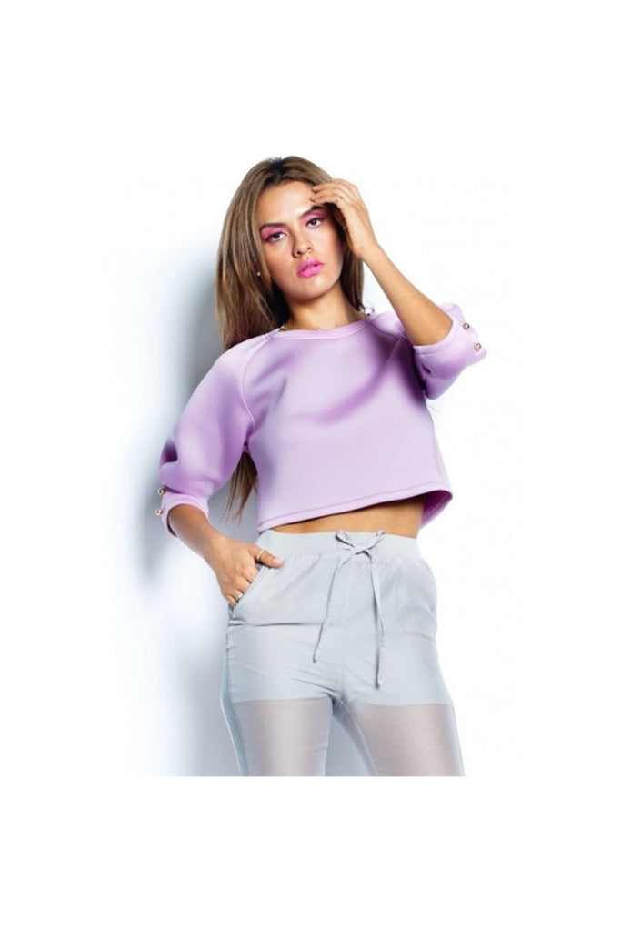 Lavender Scuba Top-Women - Apparel - Shirts - Longsleeves-Fierce Finds Mobile Boutique