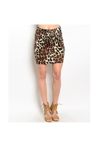 Leopard Knot Skirt-Women - Apparel - Skirts - Mini-Fierce Finds Mobile Boutique