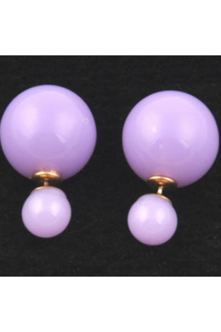 Light Purple Double Pearl Studs - Fierce Finds Mobile Boutique  - 1