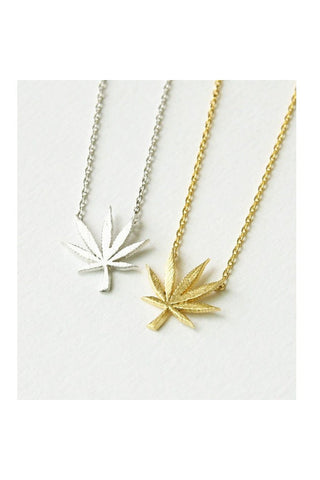 Mary Jane Leaf Necklace-NECKLACE-Fierce Finds Mobile Boutique