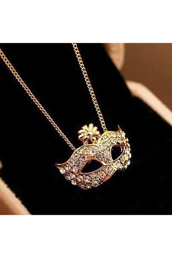 Mask Pendant Necklace-Accessories-Fierce Finds Mobile Boutique