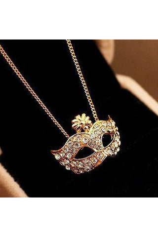 Mask Pendant Necklace - Fierce Finds Mobile Boutique  - 1
