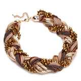 Braid Statement Necklace - Fierce Finds Mobile Boutique  - 2
