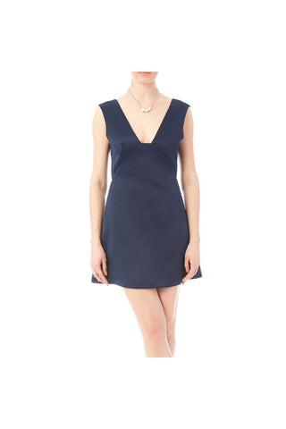 Navy Satin Dress-Women - Apparel - Dresses - Cocktail-Fierce Finds Mobile Boutique