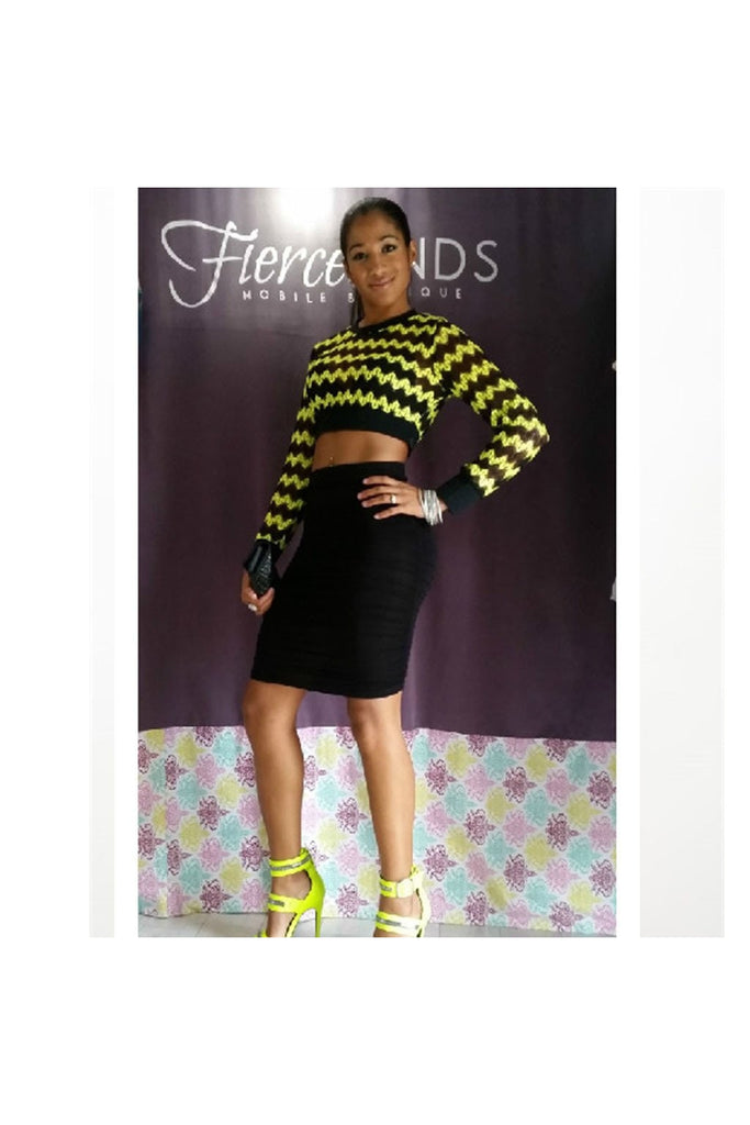 Neon Crochet Banded Crop Top - Fierce Finds Mobile Boutique  - 1