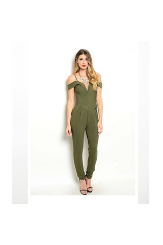 Olive Jumpsuit - Fierce Finds Mobile Boutique  - 1