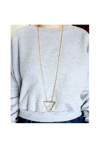 Open Triangle Long Chain - Fierce Finds Mobile Boutique  - 1