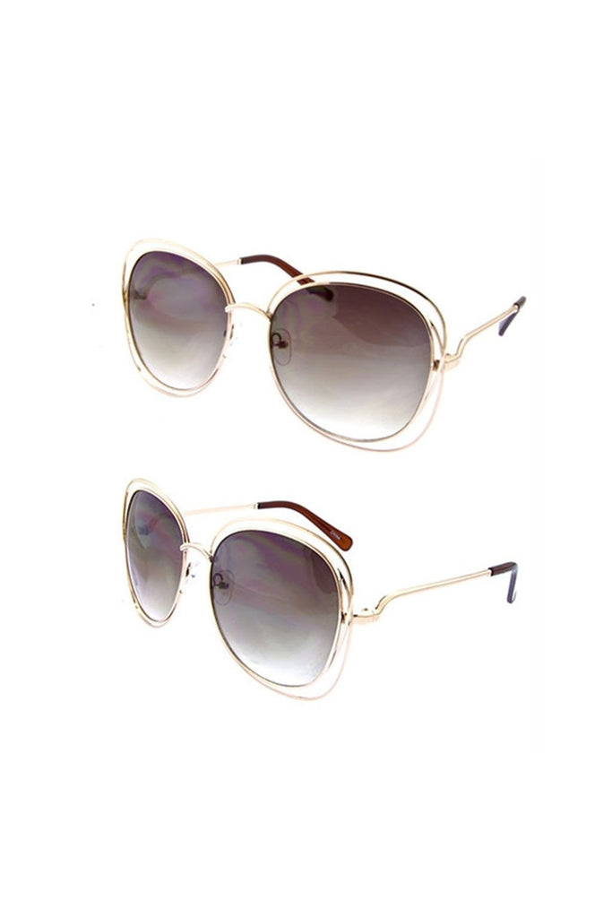 Oversized Square Retro Sunglassess - Fierce Finds Mobile Boutique  - 1
