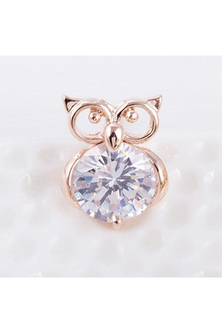 Owl Crystal Studs-EARRINGS-Fierce Finds Mobile Boutique
