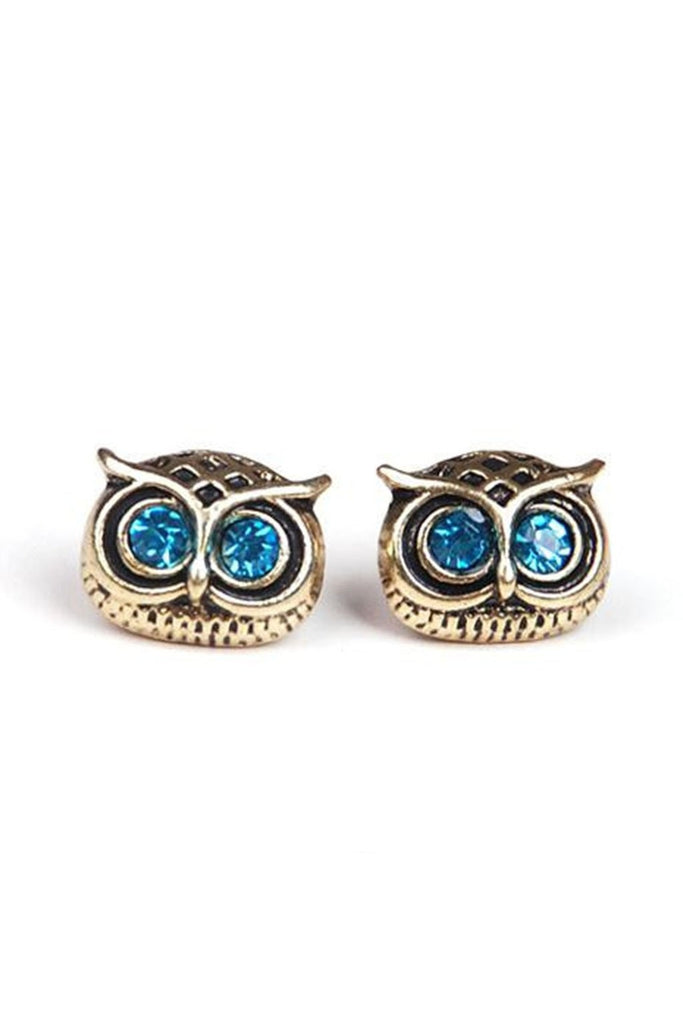Owl Stud Earrings-EARRINGS-Fierce Finds Mobile Boutique