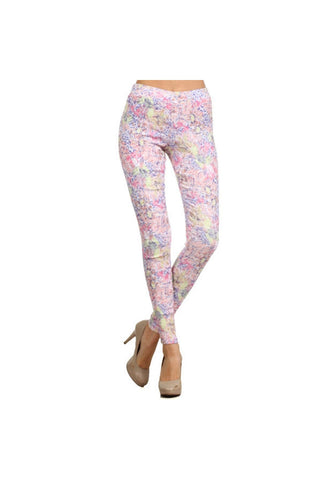Pastel Jacquard Pants - Fierce Finds Mobile Boutique  - 1