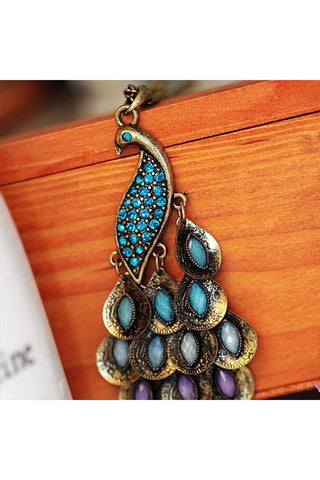 Peacock Necklace - Fierce Finds Mobile Boutique  - 1