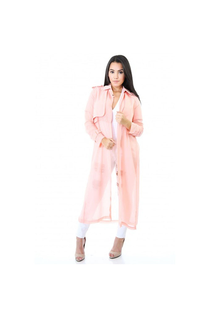 Peak-a-Boo Trench-Women - Apparel - Shirts - Coats-Fierce Finds Mobile Boutique