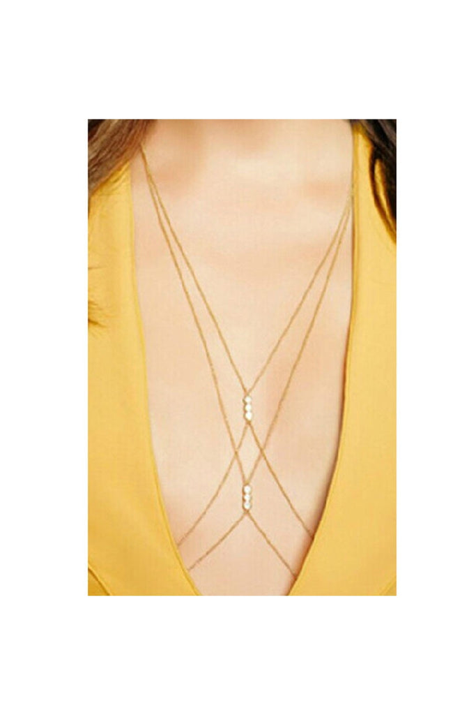Pearl Body Harness Chain-BODY JEWELRY-Fierce Finds Mobile Boutique