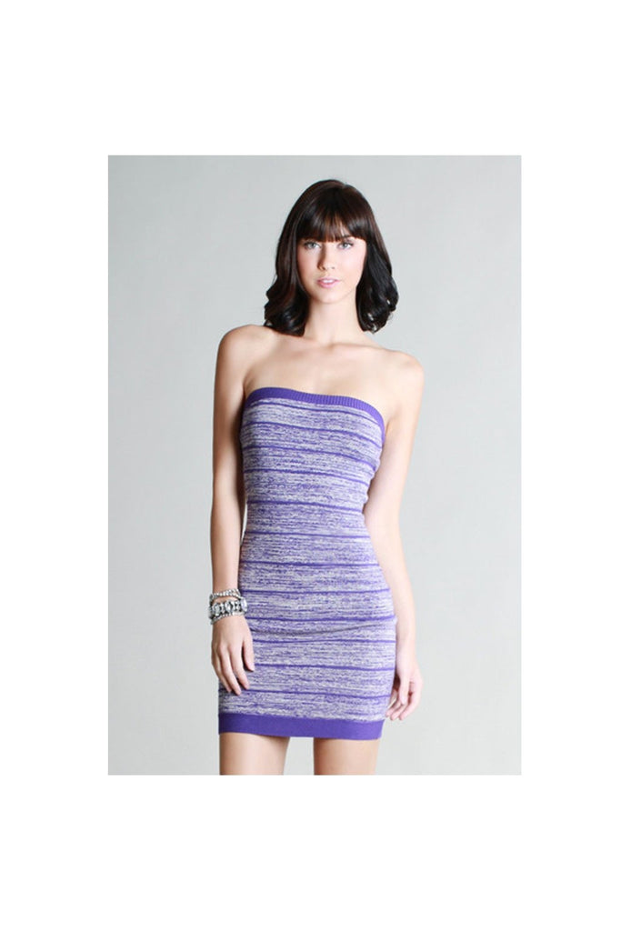 Purple Blurred Lines Dress - Fierce Finds Mobile Boutique  - 1