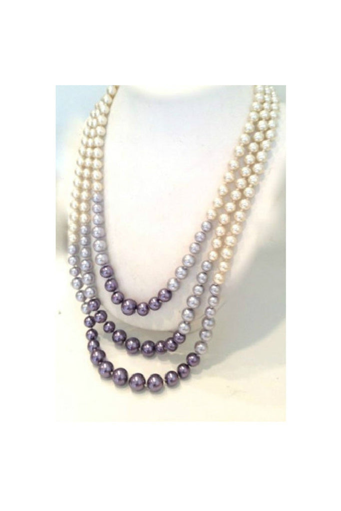 Purple Metals Pearl Necklace - Fierce Finds Mobile Boutique  - 1