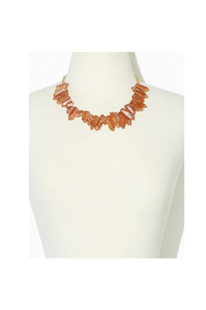 Quartz Coral Necklace - Fierce Finds Mobile Boutique  - 1