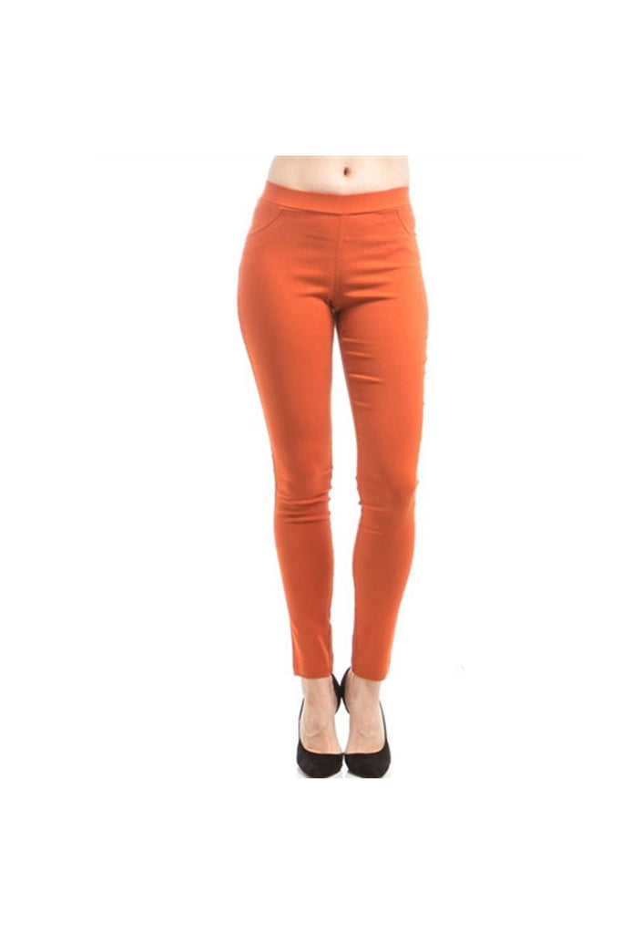 Rust Ponte Pants - Fierce Finds Mobile Boutique  - 1