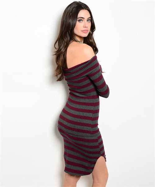 Off the Shoulder Stripe Skirt Set - Fierce Finds Mobile Boutique  - 3