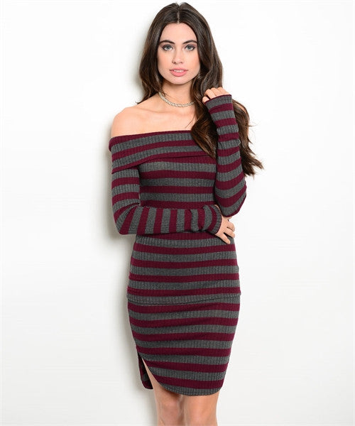 Off the Shoulder Stripe Skirt Set - Fierce Finds Mobile Boutique  - 2