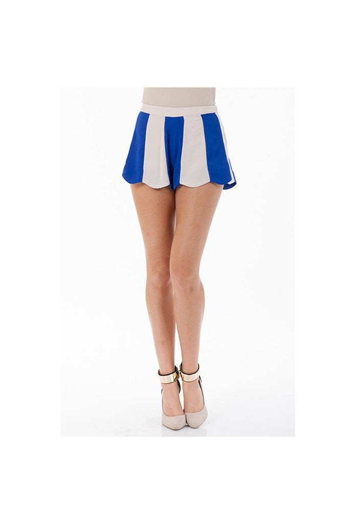 Scalloped Flare Shorts-Women - Apparel - Pants-Shorts-Fierce Finds Mobile Boutique