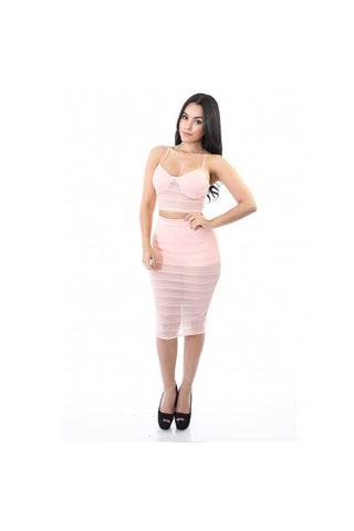Sheer to Turnheads Skirt Set-Women - Apparel - Skirts - Knee Length-Fierce Finds Mobile Boutique