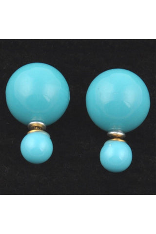 Shiny Double Pearl Studs - Fierce Finds Mobile Boutique  - 1