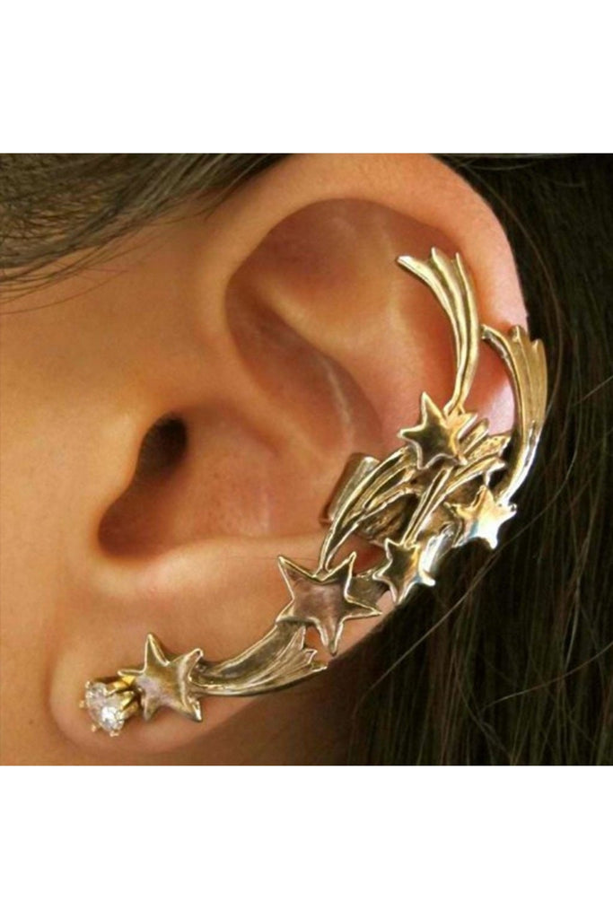 Shooting Stars Ear Cuff-EARRINGS-Fierce Finds Mobile Boutique